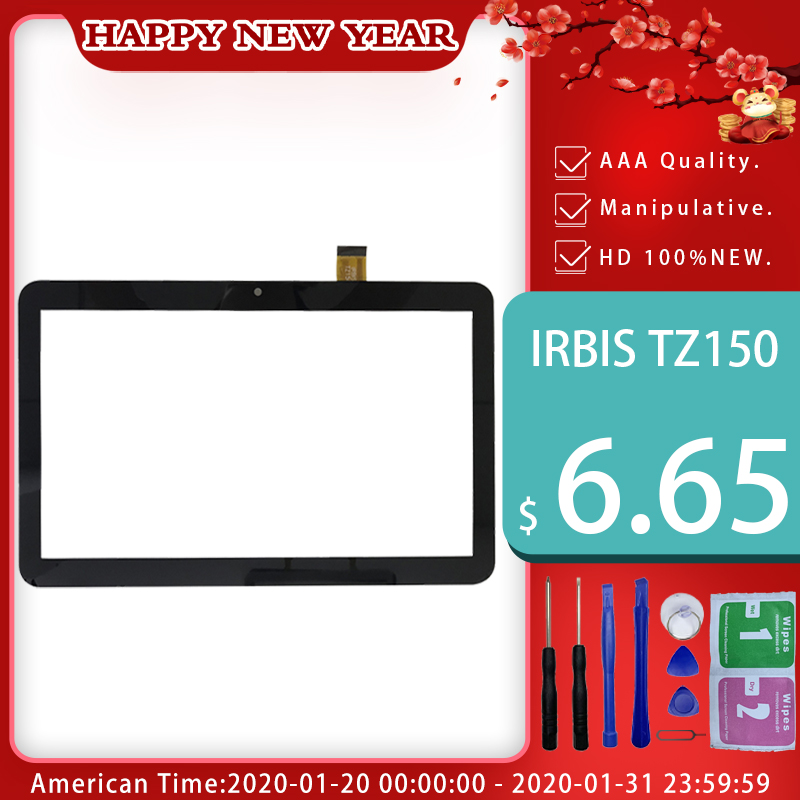 New Black 10.1 Inch For Irbis TZ150 TZ 150 3G Tablet Pc Capacitive Touch Screen Glass Digitizer Panel Free Shipping