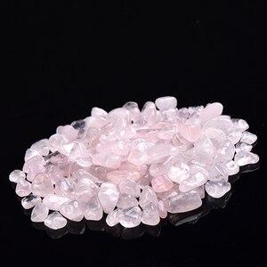 100 г натуральный розовый кварц аметист мини минерал целебный образец, подходит для аквариума украшения дома ремесла