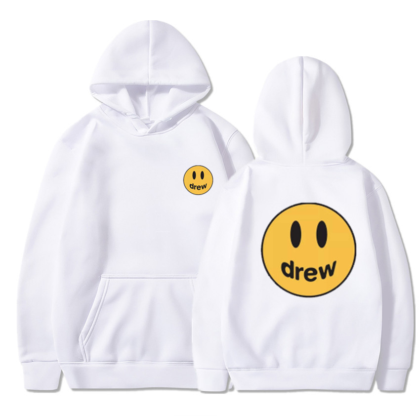 2020Fashion Hoodie Men Justin Bieber The Drew House Smile Face Print Women Men Hoodies Sweatshirts Hip HopPullover Winter Fleece