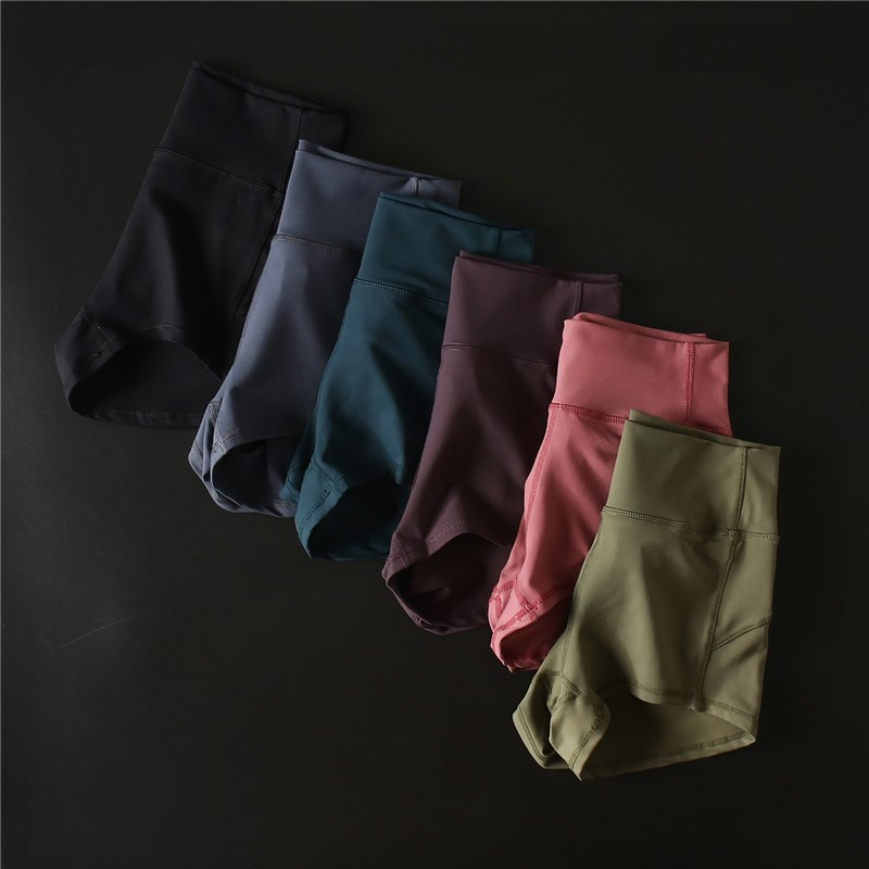 Fitness Jogger Sports Shorts High Waist Compression Running Workout Shorts Slim Tummy Control Gym Athletic Shorts Women