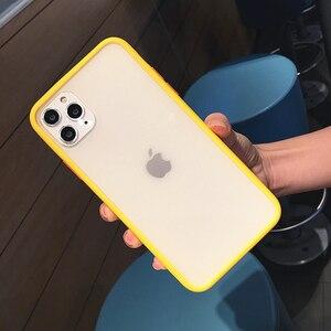 Image 3 - Trasparente antiurto Hybrid Cassa Del Telefono Del Silicone Per il iPhone 11 Pro max X XS XR 12 Mini 7 8 Più di 6S Opaca Clear Frame Soft Cover