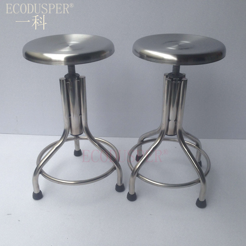 304 Stainless Steel Height Adjustable Round Stool Thick Stainless Steel Stool Stainless Steel Surgical Stool Nurses Height Adjus
