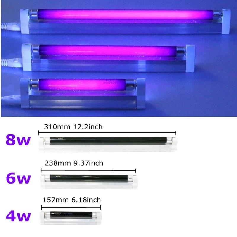 T5 6W 8W UV Ultraviolet Blacklight Fluorescent Tube Light BLB Bank Money Checker