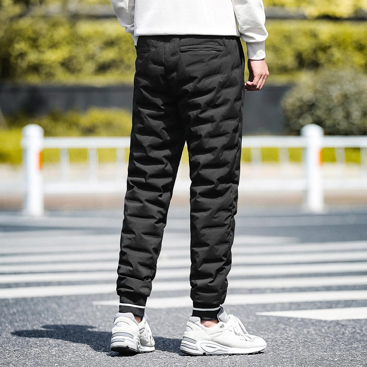 Silm Nylon Track Pants Men's Slim Patchwork Pants Thickened  Pants Men Pants Work Pants Men Corduroy Winter Mens Pants NN50CK