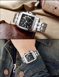 Image 5 - MEGIR Luxe Merk relogio masculino Volledig Stalen Chronograph Mens Quartz Horloge Bedrijf Horloge Mannen Horloges Militaire Klok Nieuwe 2018