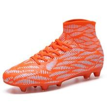 Soccer Cleats Football-Shoes Turf Futebol Chuteira Outdoor AG Kids Sport-High Men Breathable