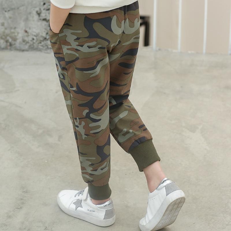 VFOCHI 2020 Boys Pants Spring Summer Thin Camouflage Kids Trousers  4-14T Teenager Boy Clothing Elastic Waist Boy Pencil Pants 3