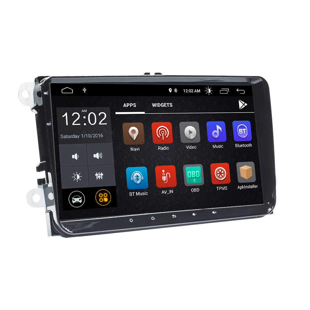 2 Din Android 9 radio de coche GPS navegación para VW Passat B6 amarok volkswagen Skoda Octavia 2 superb asiento leon golf 5 6 Multimedia