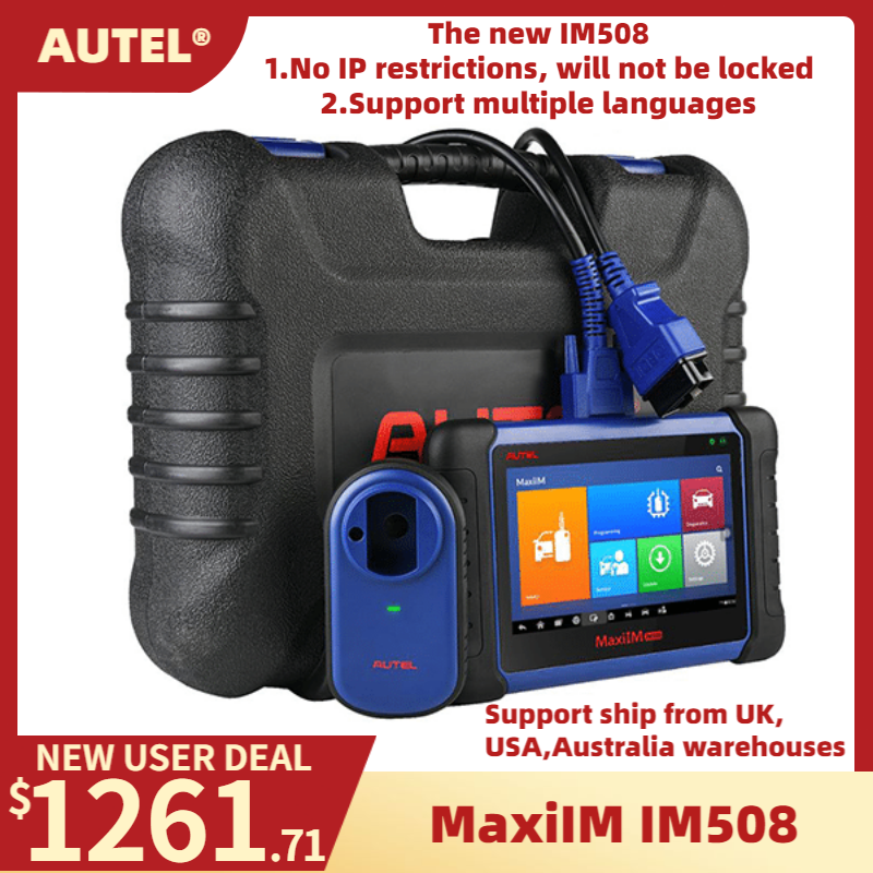 Autel MaxiIM IM508 Car Key Programmer IMMO Service & OBD2 Diagnostic Tool Upgrade of