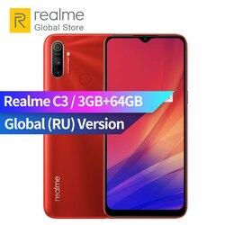 Мобильный телефон realme C3, глобальная версия, 3 ГБ ОЗУ 64 Гб ПЗУ, Процессор MTK Helio G70, камера 12 МП, мини-экран 6,5 дюйма, 5000 мАч, NFC