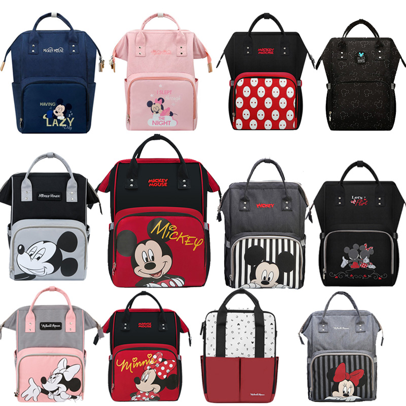 Disney Diaper Bag Maternity Nappy Backpack Large Capacity Nursing Travel Backpack Heat Preservation  Baby Diaper Bags