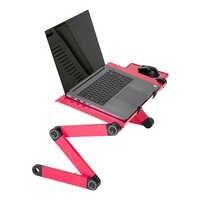 360 degrés Portable pliable table réglable pour bureau d'ordinateur Portable ordinateur Portable Portable support plateau pour canapé-lit maison bureau noir rouge