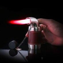 цена на Four Red Flame Torch Spray Gun Lighter Cigar BBQ Turbo Lighter Jet Butane Gas Powerful Windproof 4 Nozzles Pipe Kitchen Lighter