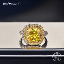 цена Shipei Luxury Natural Citrine Ring For Women Female Fine Jewelry 100% 925 Sterling Silver Gemstone Engagement Wedding Ring онлайн в 2017 году