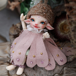 BJD Doll Shuga Fairy Pano 1/13 Doll Realpuki Fairyland Resin Toys for Kids Surprise Gift for Girls Flower Elf