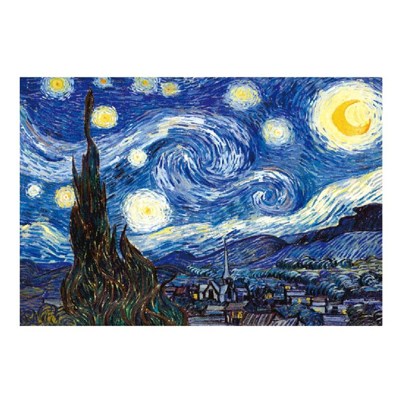 Starry Night Paper Puzzle 1000 Pieces,Puzzles For Adults & Kid's Challenge Jigsaw Puzzle Landscape,Educational Landscape Puzzles