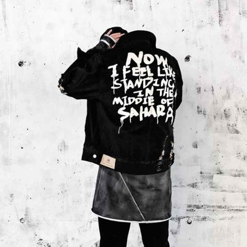 2019 джинсовая куртка мужские куртки и пальто Джинсовая куртка мужская одежда с дырками хлопковая джинсовая куртка s-xl
