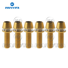 Wanyifa 6Pcs Titanium Ti M5 x 16 18 20mm Allen Hex Tapered Head Bolts With Washer Screw For Bicycle Stem