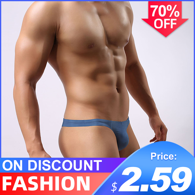 Popular Cotton Solid Breathable Sexy Gay Underwear Men Thong Men Jockstrap Man Thong G String Men Penis Pouch Gay Underwear