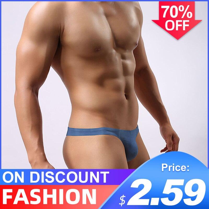 Popular Cotton Solid Breathable Sexy Gay Underwear Men Thong Men Jockstrap Man Thong G String Men Penis Pouch Gay Underwear