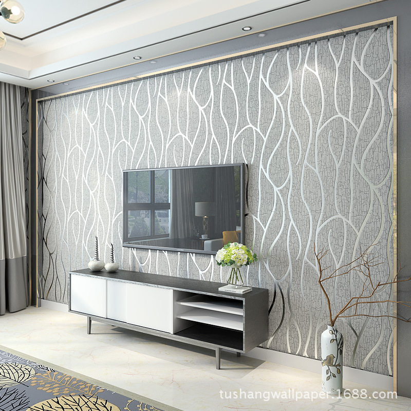 Modern Simple Thick Non-Woven Fabric Wallpaper 3D TV Background Wall Wallpaper Living Room Bedroom Wallpaper Deer Dermatoglyph