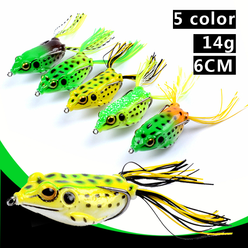 Luya Baits Outdoor Thunder Frog Bionic Baits 5 Color 14 Grams Of False Soft Baits Blackfish Kill 3D Bionic Eye Fishing Tackle