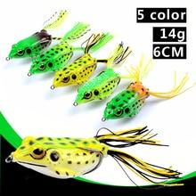 Luya baits outdoor thunder frog bionic 5 color 14 grams of false soft blackfish kill 3D eye fishing tackle