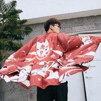 New Japan Kimono Cardigan Japanese Style Men Samurai Haori Clothing Embroidery Traditional Vintage Yukata Asian Clothes SL1313