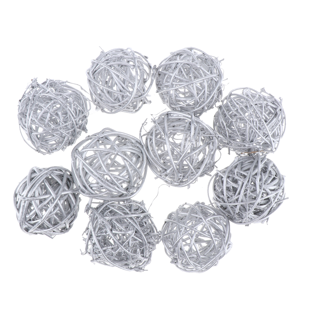 10X3cm//5cm Rattan Ball Wedding Party Ornament Craft Dried Balls Festival-DecHFUK