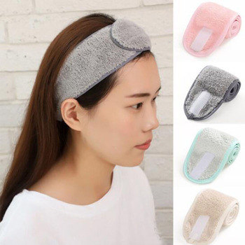 1PC Women Adjustable Makeup Headbands Wrap Tiara Turban Face Wash Bath Salon SPA Velcro Hairband For Accessories - discount item  45% OFF Headwear
