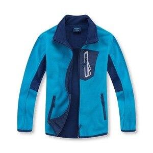 Image 2 - Marka antystatyczna Polar runo ciepły płaszcz dziecięcy Patchwork chłopcy kurtki ubrania wierzchnie dla dzieci stroje dla dzieci w wieku 3 14 lat