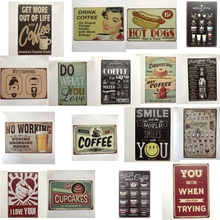 [Luckyaboy] Vintage Coffee Hot Dog Smile Cupcake No working Beer Metal Tin Signs Wall Art Painting Poster Bar Cafe Garage Decor рюкзак ors oro ors oro or010bwdllz8