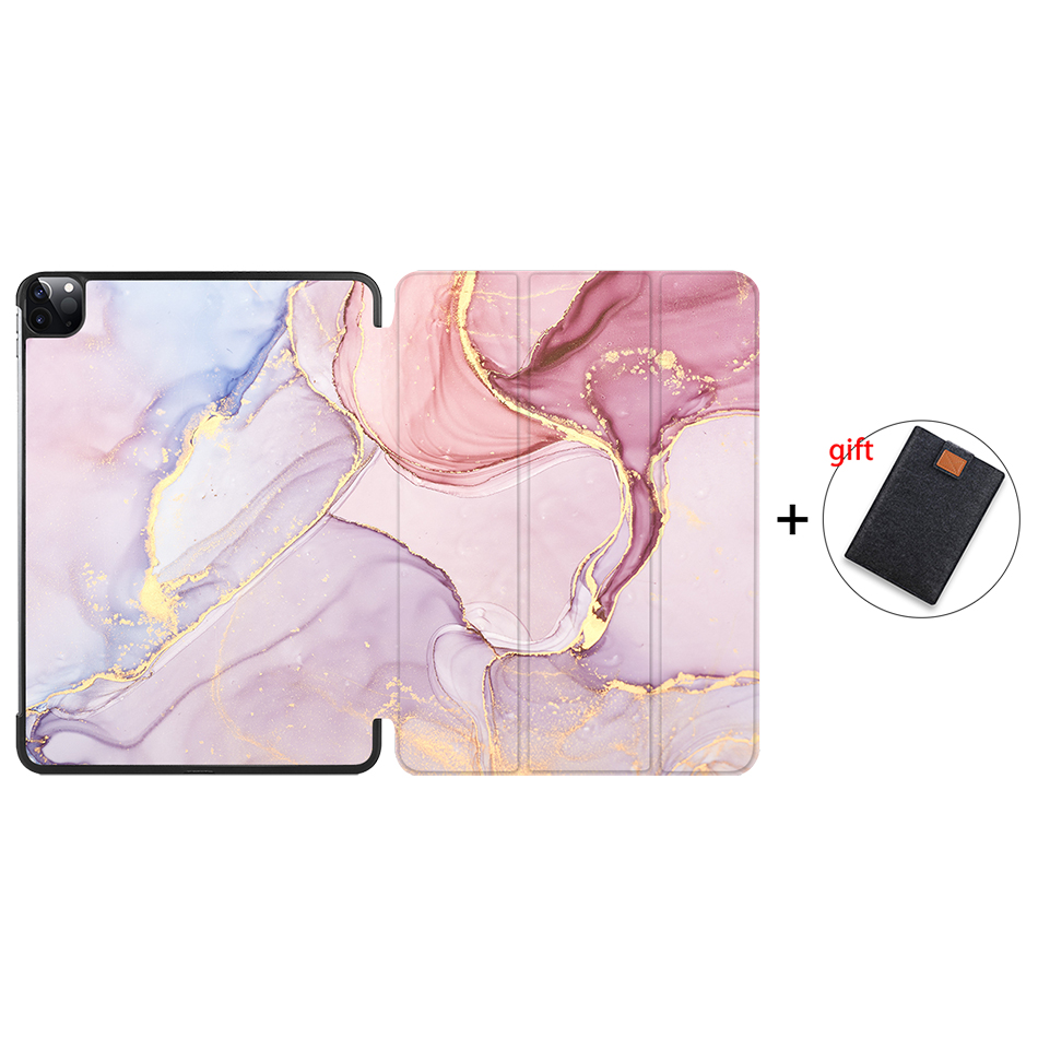 IP02 Other MTT 2020 Marble Tablet Case For iPad Pro 11 inch A2228 A2231 PU Leather Magnetic Fold