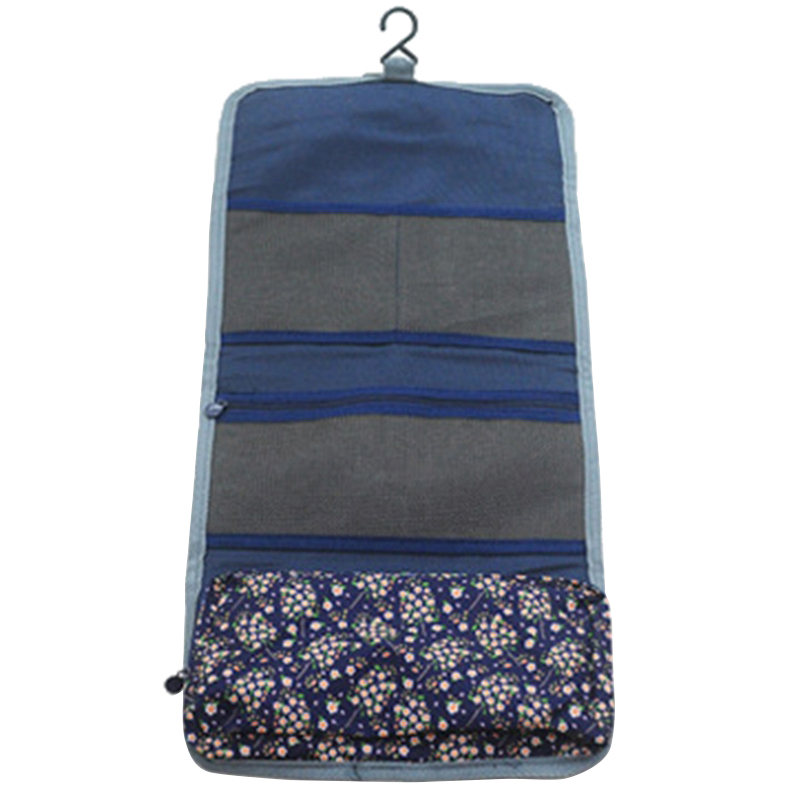 New Style Fashion Casual Practical Travel Hanging Cosmetic Bag Toiletry Organizer Ladies Women Make Up Pouch Dark Blue