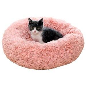 Image 1 - Vòng Giường Mèo Dài Sang Trọng Chó Chó Giống Mèo Nhà Siêu Mềm Mại Thảm Sofa Cho Chó Chi Động Vật Giường Thú Cưng dành Cho Chó Mèo Giường