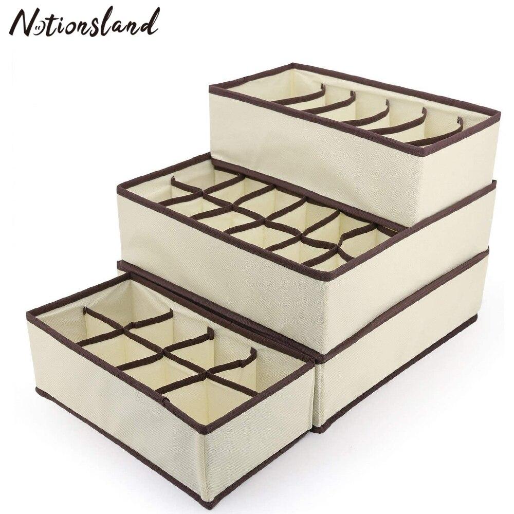 Unterwäsche Lagerung Organizer Box für Socken Schal Bh Grid Schublade Schrank Schrank Organizer Multi-größe Faltbare Lagerung Boxen