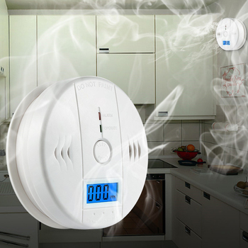 цена на Whole sale Security Loud 85db Photoelectric Carbon Monoxide Detectors CO Gas Sensor Independent CO Poisoning Gas Alarm Detector