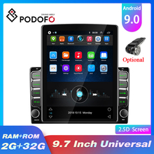 Mp5-Player Autoradio Stereo-Receiver Bluetooth Android 2-Din Vertical-Screen Podofo GPS