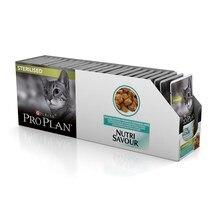 Pro Plan Nutrisavour Sterilised пауч для стерилизованных кошек и котов с океанической рыбой(кусочки в желе, 24*85 г