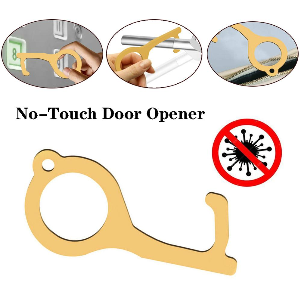 Clean Key Smart Door Opener Keychain Smart Hygiene Hand Anti-microbial Brass EDC Door Opener Keychain