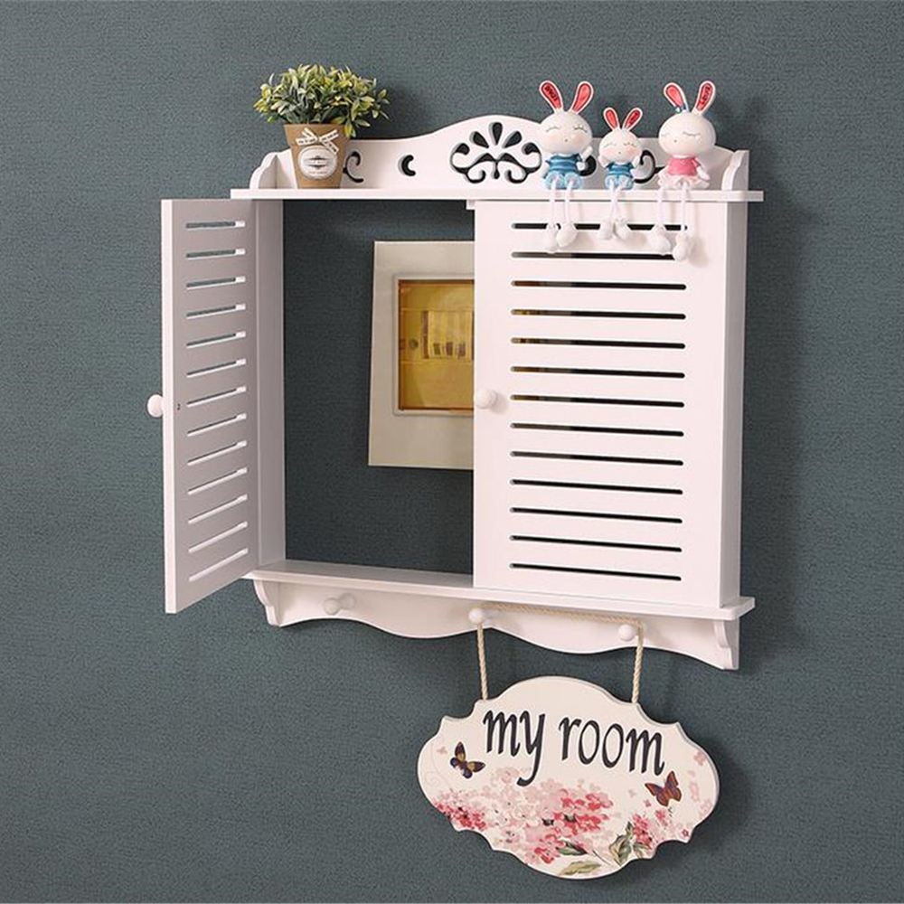 Nordic Electric Meter Occlusion Box Simple Hollow Carved Wall Ornament Frame Home White PVC Board Distribution Box
