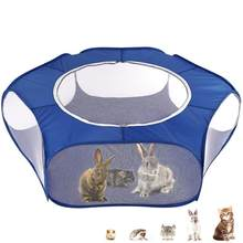 Pet Portable Pet Playpen Outdoor Indoor Mini Game Folding Fence for Small Animals Cage Tent Travel Convenient Supplies(China)