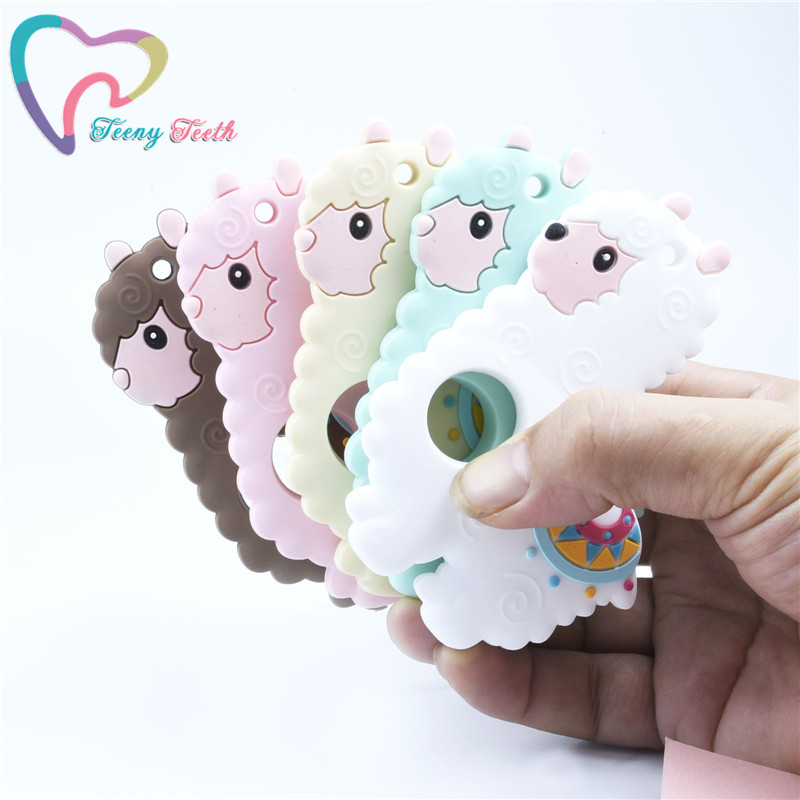 1 PC Silicone Penguin Baby Teether Rodent Sheep Baby Teething Toys Chew Animal Alpaca Shape Baby Products Nursing Llama Teether