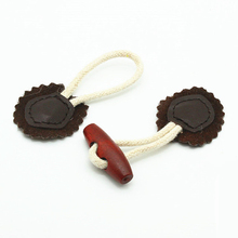 Small horn buckle buttons for children creative wooden buttons high quality snap button leather buttons for clothing accessorise