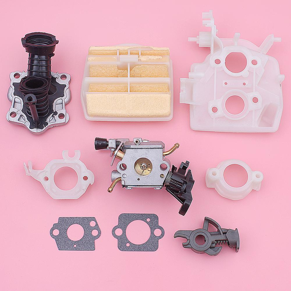 Carburetor Air Filter Intake Pipe Bracket Switch Kit For Husqvarna 445 450 506450401 544082301 544080803 Chainsaw Gasket
