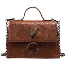 Retro Antler Woman Bag New High Quality PU Texture Handbag Designer Shoulder Messenger Bag Fashion  Ladies Luxury Bag 2019 цены