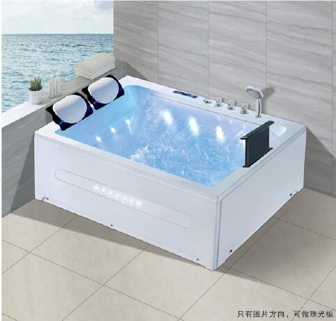 Banheira de hidromassagem acrílica da fibra de vidro do redemoinho de 1700mm tv surf massagem ns3101-1
