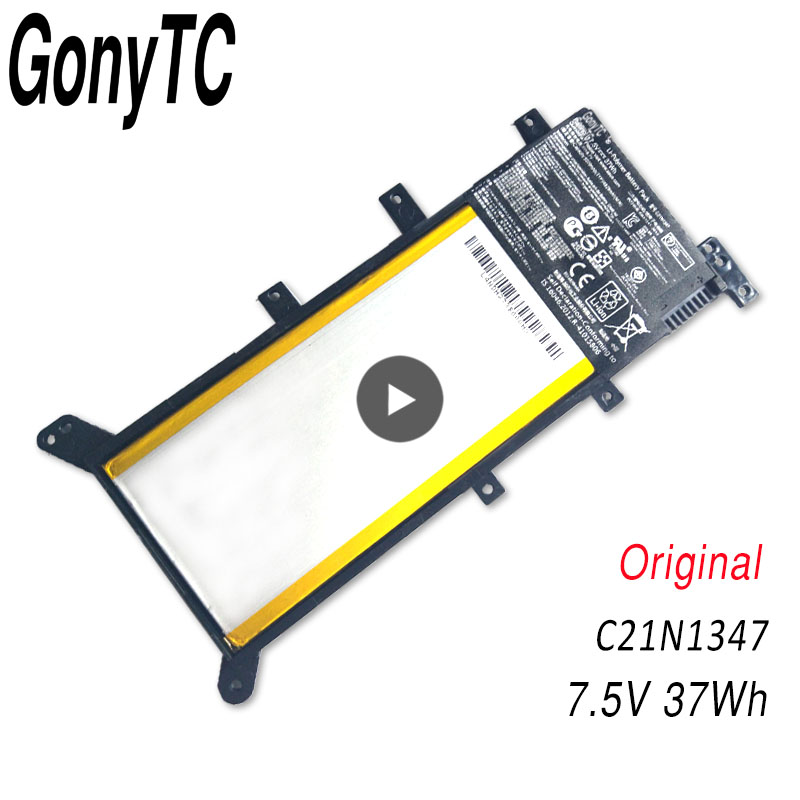 GONYTC 7.5V 37WH C21N1347 New Original Laptop Battery For ASUS X554L X555 X555L X555LA X555LD X555LN X555MA 2ICP4/63/134