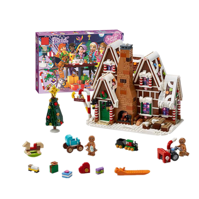 Gingerbread House Compatible With Legoinglys Friends Advent Calendar Building Blocks Bricks Toys DIY For Girls XMAS Gifts 41326