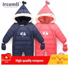 лучшая цена 2016 New Baby Snowsuit Winter Overalls Newborn Girls Boys Romper Down Cotton Thermal Warm Jumpsuit 1-3T Infantil Outwear Clothes